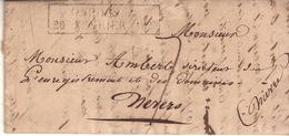 """LOT - CAHORS - Cachet D'essai """" FÉVRIER 1828 """" ( RARE Indice 35 ) - Marcophilie (Lettres)"""