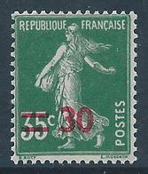 FRANCE 1940-41 - YT N°476 - 30 Sur 35 C. Vert - Type Seumese Fond Plein - Neuf** - TTB Etat - France