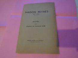 Plaquette Ancienne : MAISON REYNES (XVI E Siècle)  Hôtel Chambre Commerce Albi  SD Imprimerie Coopérative Du Sud-Ouest - Midi-Pyrénées