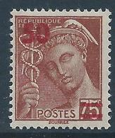 FRANCE 1940-41 - YT N°477 - 50 Sur 75 C. Brun-rouge - Type Mercure - Neuf** - TTB Etat - France