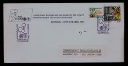 (OFIR-FÂO European Meeting Women Scouts GUIDES) Scouting Scoutisme Portugal Lisboa 1986 Boy Scouts (pmk 1R-cover) Gc3648 - Cartas