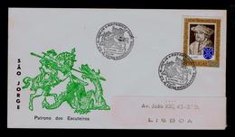 SÂO JORGE's Patron Boy Scouts Madeira Island FUNCHAL Scouting Scoutisme Portugal 1974 (pmk 3R-cover) Dragon Symbol G3649 - Scoutisme