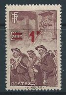 FRANCE 1940-41 - YT N°489 - 1 F. Sur 2 F 15 Brun-lilas - Neuf** - TTB Etat - France