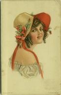 LICE LUELLA FIDLER SIGNED POSTCARD 1910s - AMERICAN GIRL N.121 (BG1046) - Illustrateurs & Photographes