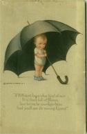 REINTHAL & NEMAN 1910s POSTCARD - KID WITH BIG UMBRELLA - SERIES 707 (BG1047) - Illustrateurs & Photographes