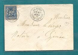 Cotes Du Nord - La Motte Pour Loudéac. CàD Type 18 Sur Sage - Marcofilie (Brieven)