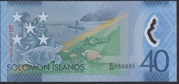 Solomon Islands 40 Dollar 2018 Pnew UNC - Salomons
