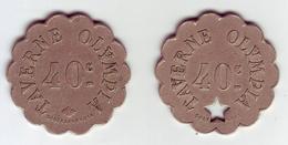 Monnaie De Nécessité - 75 - PARIS - Taverne Olympia. 40c - Série De 2 Monnaies - - Monétaires / De Nécessité