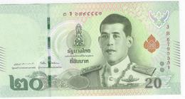 Thailand 20 Baht 2018 Pnew UNC - Tailandia