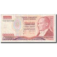Billet, Turquie, 20,000 Lira, 1988, KM:201, TTB - Turquie