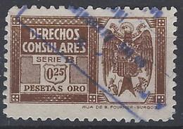 Derechos Consulares 107 (o) Aguila. 1939 - Fiscales