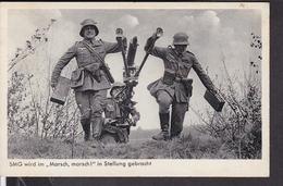Wehrmacht Schweres MG Wird In Stellung Gebracht - Guerra 1939-45