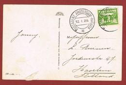 Postagent Amsterdam Batavia 12.1.1928 Op Egyptische Kaart  2 Scan - Poststempel