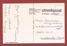 Postkaart Streekpost Bergen Gennep - Postal History