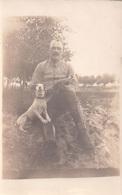 Fotokaart Carte Photo Militair Soldaat Militaire Soldat Jack Russel Oorlog 1914-1918 ? Guerre - Guerra, Militares