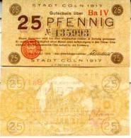 GERMANY  25 Pfennig 1917   **UNC** - [ 2] 1871-1918 : Duitse Rijk