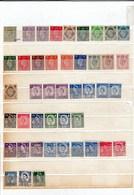 44 Timbres Oblitérés Et Neufs (roi Georges 5, Reine Elisabeth.) Dont Le N° 168 Neuf Coté 16 Euros - 1902-1951 (Re)