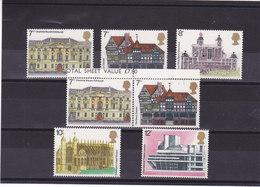 GB 1975 Année Européenne De L'architecture Yvert 751-755 + 751a NEUF** MNH - Neufs