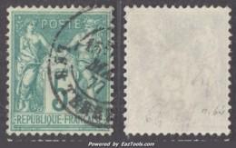 5c Sage Vert Foncé Au Type I (N/B) Oblitéré TB (Y&T N° 64, Cote  60€) - 1876-1878 Sage (Type I)