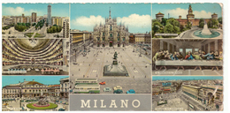 Tarjeta Postal. Milano. 7 Vistas. Sello Y Matasellos. 1982?. - Milano (Milan)