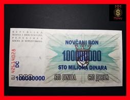 BOSNIA 100.000.000  10000000  Dinara  10.11.1993  P. 37 B UNC - Bosnie-Herzegovine