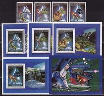 Guinea, 1990, Winter Olympics 1992 (I), 4stamps, 5 Blocks - Winter 1992: Albertville