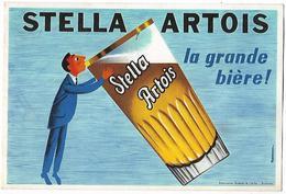 -PUBLICITE,STELLA ARTOIS,la Grande Bière-Oblitération Leuven 1963-Carte Publiée Par Les Brasseries - Alcools