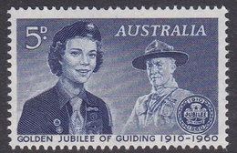 Australia ASC 362  1960 50th Anniversary Girls Guide, Mint Never Hinged - Mint Stamps