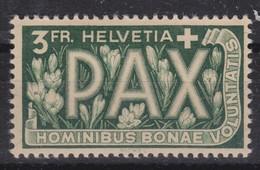 SUISSE 1945:   Le 3 Fr. De La Série 'PAX', Neuf*, Bonne Cote - Nuevos