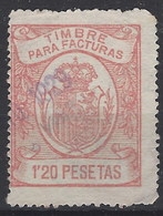 Facturas Y Recibos 14 (o) Corona Real. 1920 - Fiscales