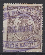 Facturas Y Recibos 15 (o) Corona Real. 1920 - Fiscales