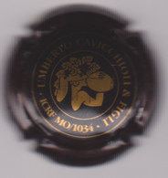 Capsule Mousseux ( UMBERTO CAVICCHIOLI & FIGLI Noir Et Or Pâle , Mousseux Italie ) {S44-18} - Mousseux