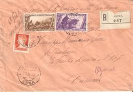 "RACCOMANDATA AFFRANCATA PER £ 2,30(DECENNALE) ANNULLATI BOLLO ""AGIRA 17-11-32"" INVIATA A OGNINA-CATANIA. - 1900-44 Vittorio Emanuele III"