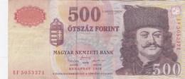 Hongrie - Billet De 500 Forint - 1998 - Rakoczi Ferenc - Hongrie