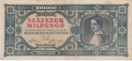 Hongrie - Billet De 100000 Pengo - 29 Avril 1946 - Hongrie