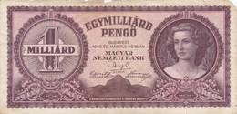 Hongrie - Billet De 1 Milliard De Pengo - 18 Mars 1946 - Hongrie