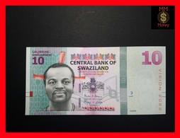 SWAZILAND  10 Emalangeni 6.9.2015  P.41 UNC - Swaziland