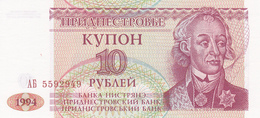 Transnistrie - Billet De 10 Roubles - 1994 - Neuf - Moldova