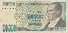 Turquie - Billet De 50000 Lira - Turquie