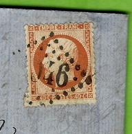 1863 SUR LAC FAIBLE TIMBRE EMPIRE 40 Cent. Oblitération Gros Chiffres De Lille Pour Anvers Par Victor Delgutte - 1849-1876: Periodo Classico