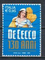 °°° ITALIA 2016 - PASTA DE CECCO °°° - 6. 1946-.. Repubblica