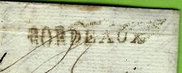 1790 BORDEAUX Pour Nantes Sur L'Ile Feydeau TEXTE INTERESSANT  AFFAIRES ET RELATIONS PERSONNELLES VOIR SCANS - Postmark Collection (Covers)