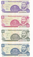 Nicaragua - Lot De 4 Billets De 1, 5, 10 & 25 Centavos De Cordoba - Neufs - Nicaragua