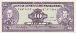 Venezuela - Billet De 10 Bolivares - 5 Juin 1995 - Bolivar - Sucre - Venezuela
