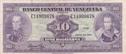 Venezuela - Billet De 10 Bolivares - 29 Janvier 1974 - Bolivar - Sucre - Venezuela