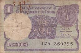 Inde - Billet De 1 Rupee - 1989 - Inde