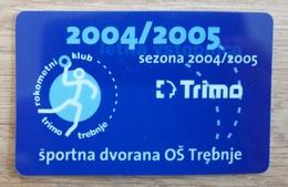 Season Ticket Handball Club Trimo Trebnje  Slovenia 2004/2005 Plastic Card - Match Tickets