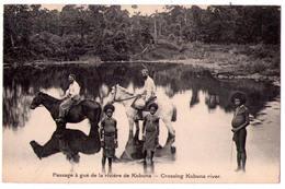 3089 - Papouasie-Nouvelle Guinée - Missionnaires Du Sacré-Coeur D'Issoudun - Passage à Gué De La Rivière Kubuna - - Papouasie-Nouvelle-Guinée