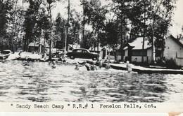 """Sandy Beach Camp"" R. R. #1, Fenelon Falls, Ontario R P P C Glue On Back - Ontario"