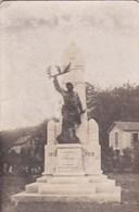 Carte Photo  Saint Benoit (86) Monument Aux Morts De  1914 1918  état Moyen Mais Rare - Places